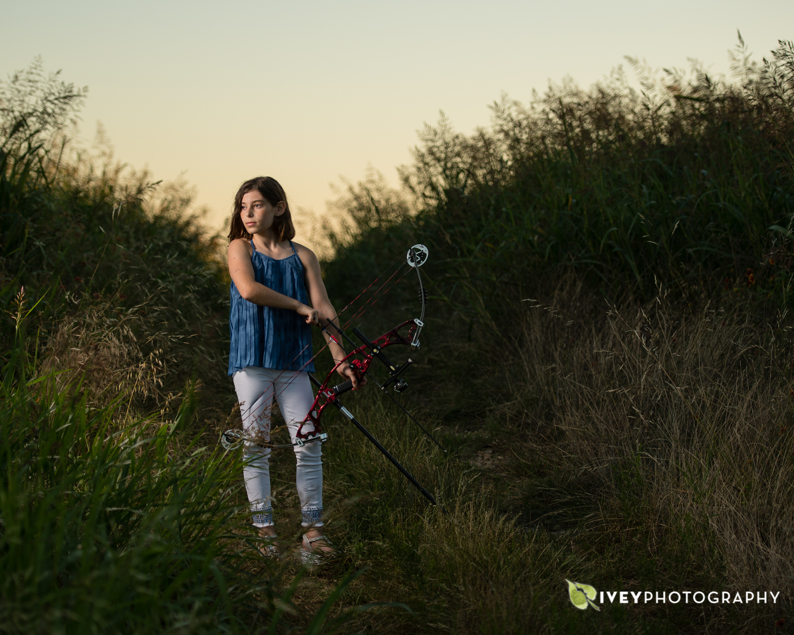 Bar Mitzvah Portraits with a Bow and Arrow Hunger Games